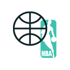NBA logo + svart basketboll