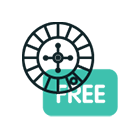 """Animerad bild av roulettehjul & ordet """"free"""""""